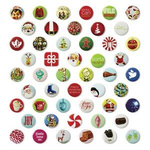 Other - 50 Christmas Holiday Mini Buttons Pins JC Penney
